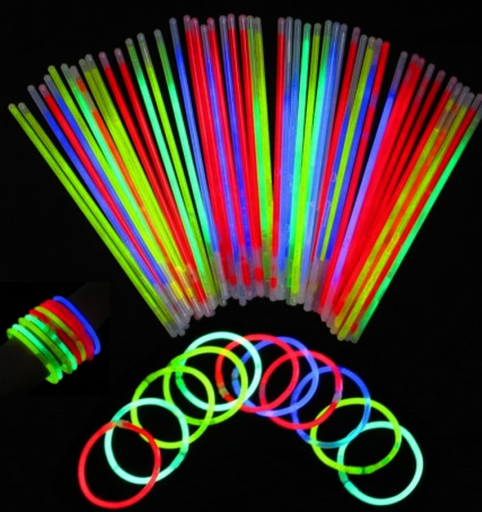 pulseras luminosas glow sticks collar gafas fluorescente
